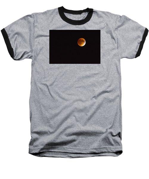 Blood Moon Luna Eclipse Baseball T-Shirt by Michael Hubley