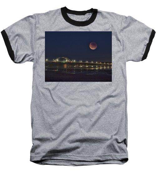 Blood Moon Over Alsea Bay Baseball T-Shirt