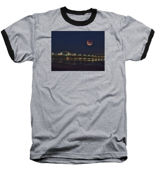Blood Moon Over Alsea Bay Baseball T-Shirt