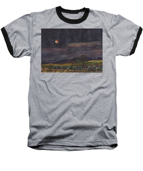 Blood Moon Over Boulder Baseball T-Shirt by Anne Gifford