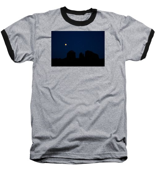 Blood Moon Over Cathedral Baseball T-Shirt
