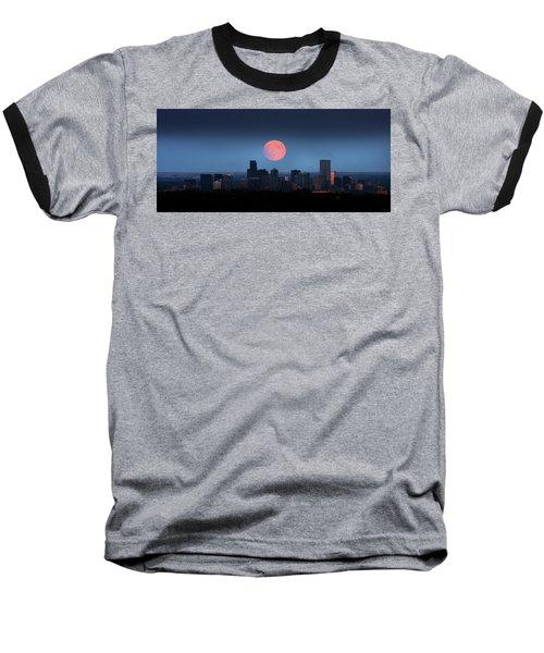 Blood Moon Over Denver Baseball T-Shirt