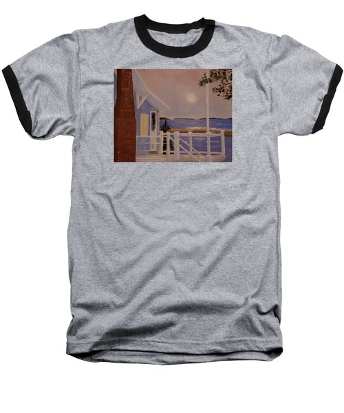 Blood Moon Over Muscongus Sound Baseball T-Shirt