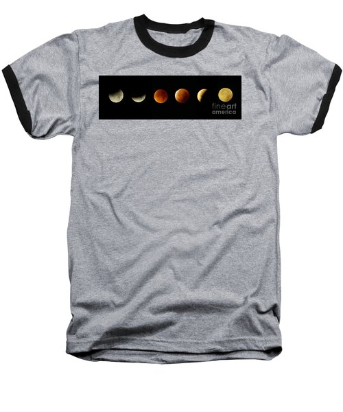 Blood Moon Phases Baseball T-Shirt