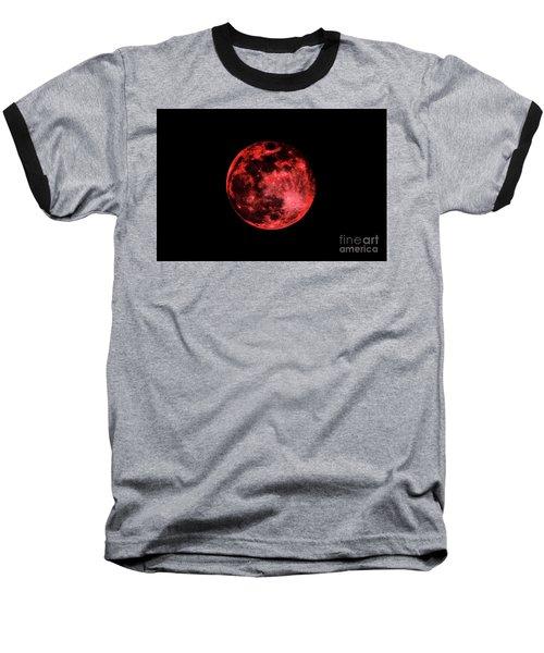Blood Red Moonscape 3644b Baseball T-Shirt