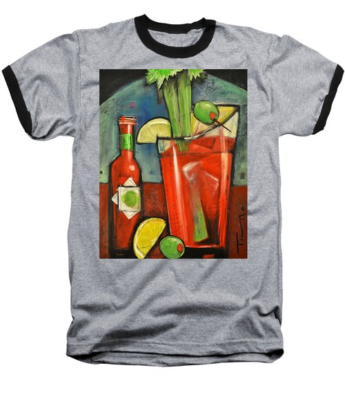 Bloody Mary Baseball T-Shirt by Tim Nyberg