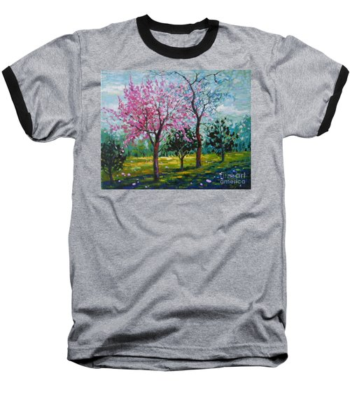 Bloom In Pink Baseball T-Shirt