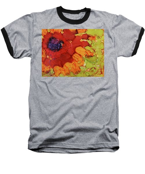 Blooming Cactus Baseball T-Shirt by Cynthia Powell