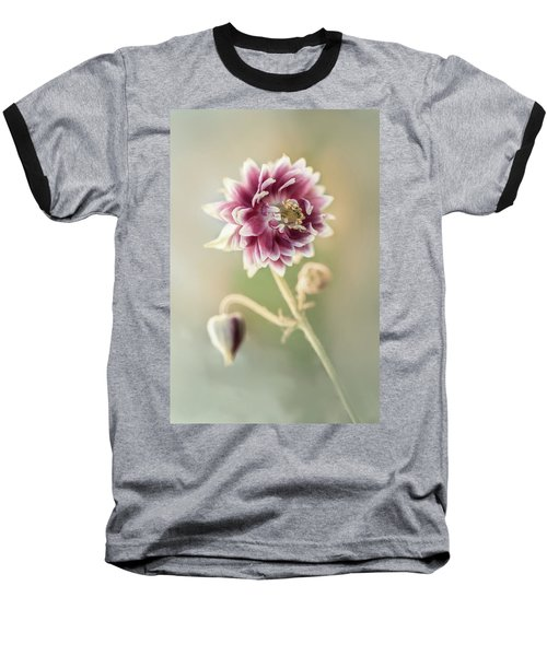Blooming Columbine Flower Baseball T-Shirt