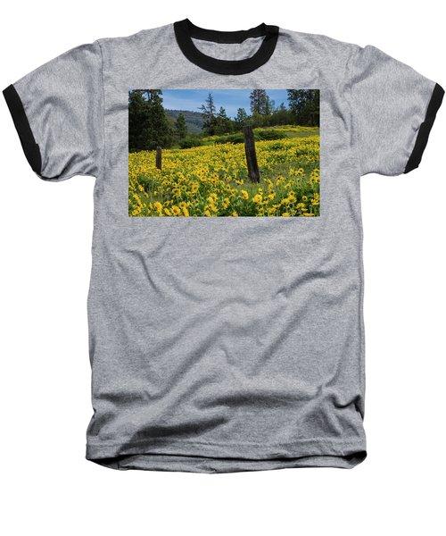 Blooming Fence Baseball T-Shirt