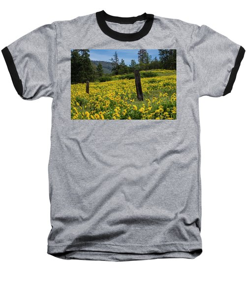 Blooming Fence Baseball T-Shirt