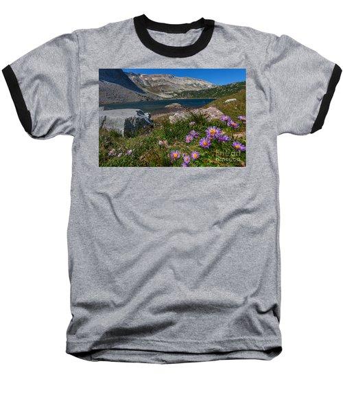 Blooming In Snowy Range Baseball T-Shirt
