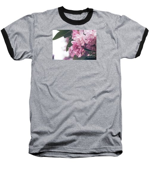 Blooming Pink Baseball T-Shirt by Rebecca Davis