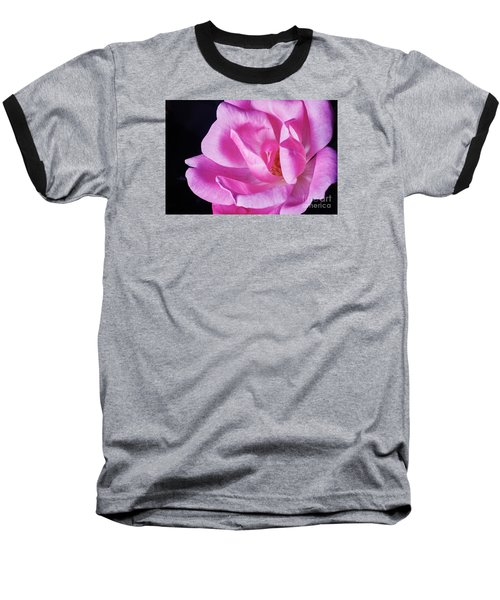Blooming Rose Baseball T-Shirt