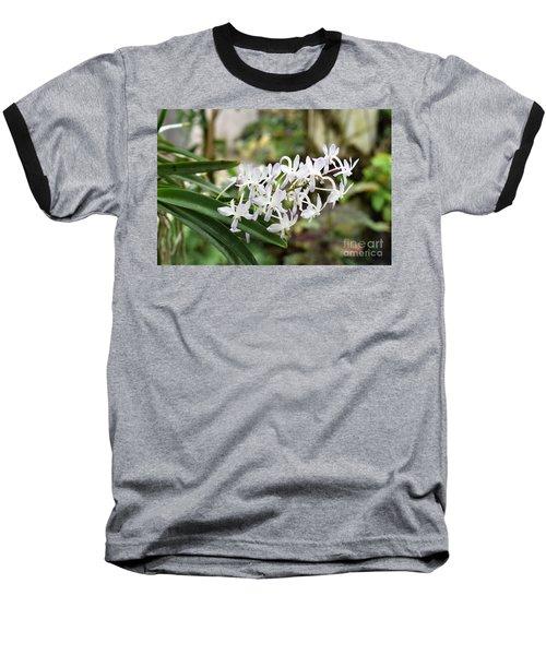Blooming White Flower Spike Baseball T-Shirt