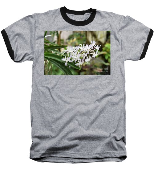 Blooming White Flower Spike Baseball T-Shirt
