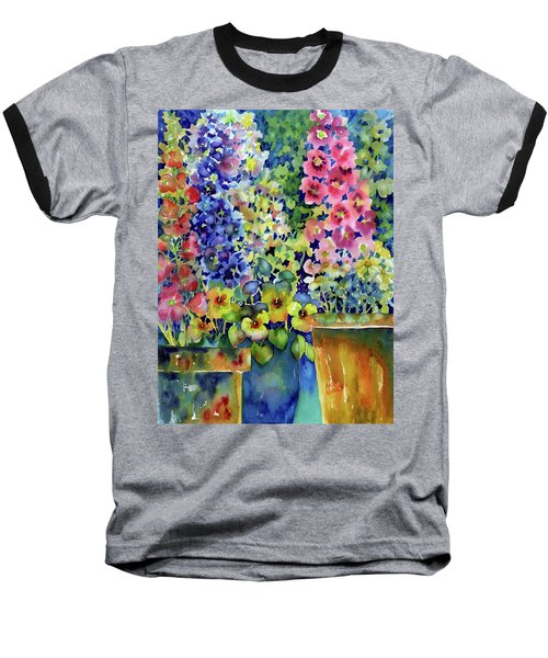 Blooms In Pots Baseball T-Shirt