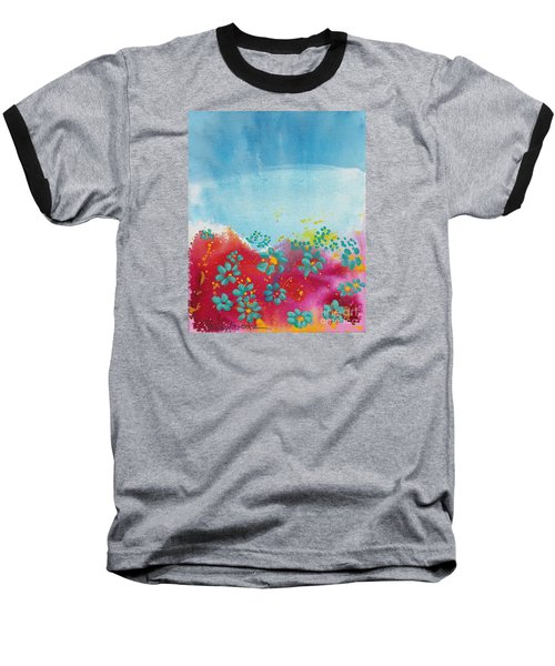 Blooms Baseball T-Shirt by Shelley Overton