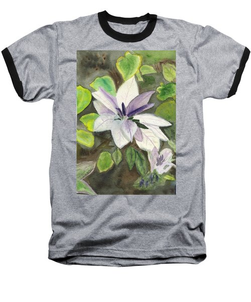 Baseball T-Shirt featuring the painting Blossom At Sundy House by Donna Walsh