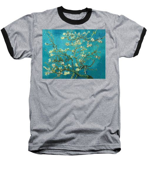 Baseball T-Shirt featuring the painting Blossoming Almond Tree by Van Gogh