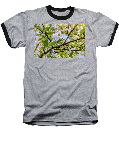 Blossoms And Leaves Baseball T-Shirt