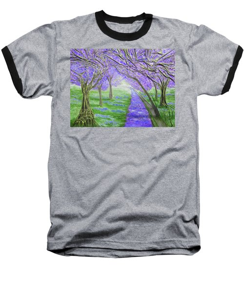 Baseball T-Shirt featuring the mixed media Blossoms by Angela Stout