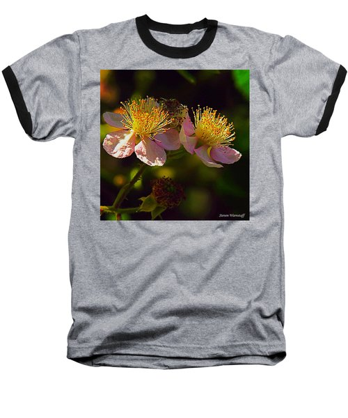 Blossoms.1 Baseball T-Shirt by Steve Warnstaff