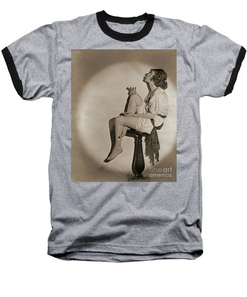 Baseball T-Shirt featuring the photograph Blowing Smoke 1922 by Padre Art