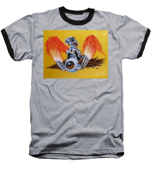 Blown Eyeball Baseball T-Shirt by Alan Johnson