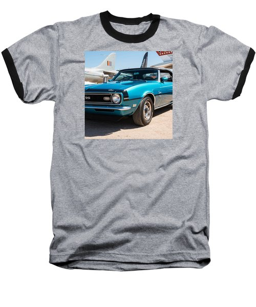 Blue 350 Chevy Camaro Ss Baseball T-Shirt