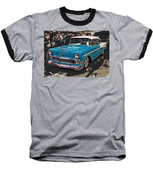 Baseball T-Shirt featuring the photograph Blue '56 by Victor Montgomery