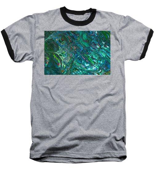 Blue Abalone Abstract Baseball T-Shirt