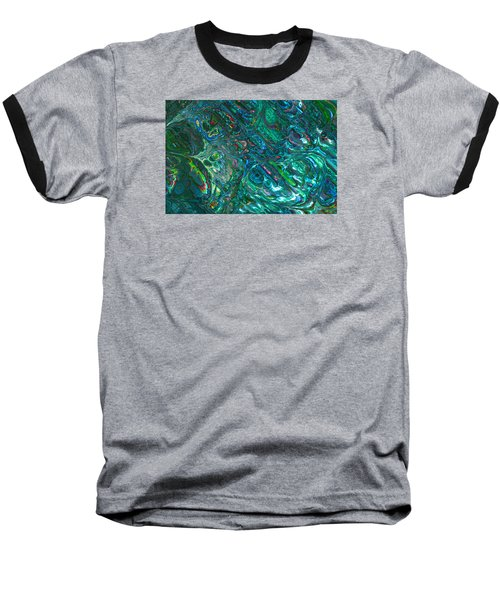 Blue Abalone Abstract Baseball T-Shirt