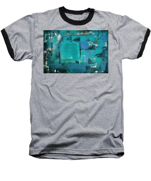 Blue Abstract Baseball T-Shirt