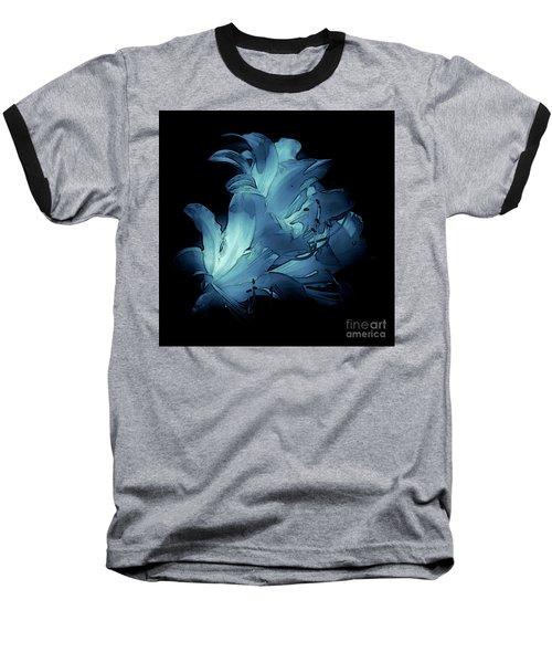 Blue Abstract No. 1 Baseball T-Shirt