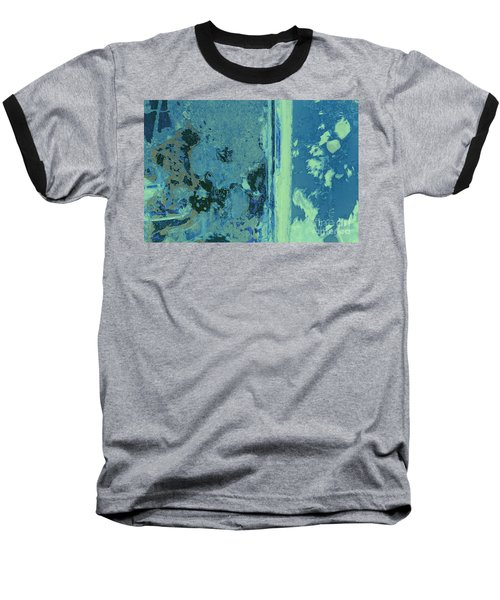 Blue Abstraction Baseball T-Shirt