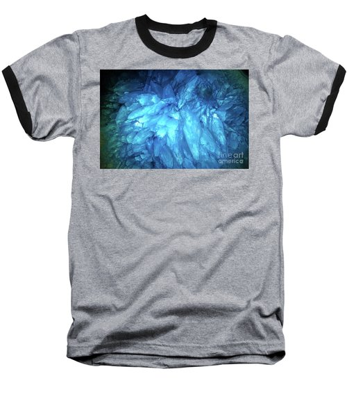 Baseball T-Shirt featuring the photograph Blue Agate by Nicholas Burningham