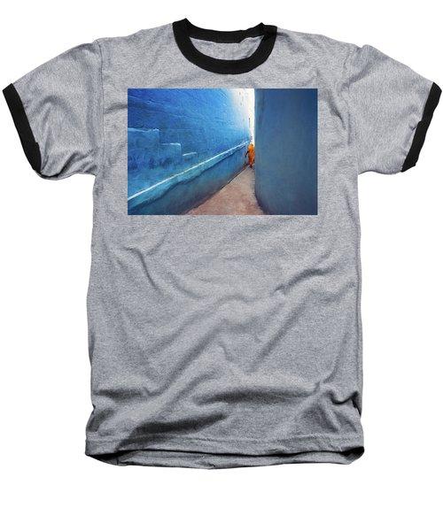 Blue Alleyway Baseball T-Shirt