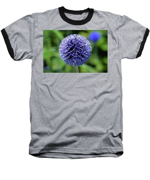 Baseball T-Shirt featuring the photograph Blue Allium by Terence Davis