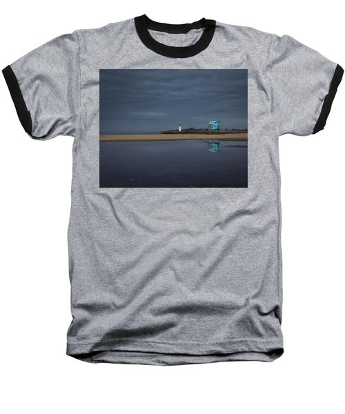 Baseball T-Shirt featuring the photograph Blue And Grey by Lora Lee Chapman