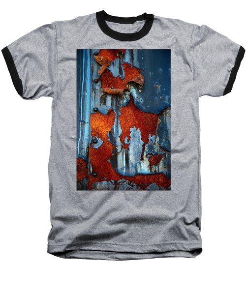 Baseball T-Shirt featuring the photograph Blue And Rust by Karol Livote
