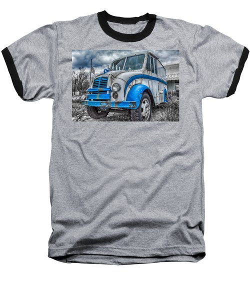 Blue And White Divco Baseball T-Shirt by Guy Whiteley