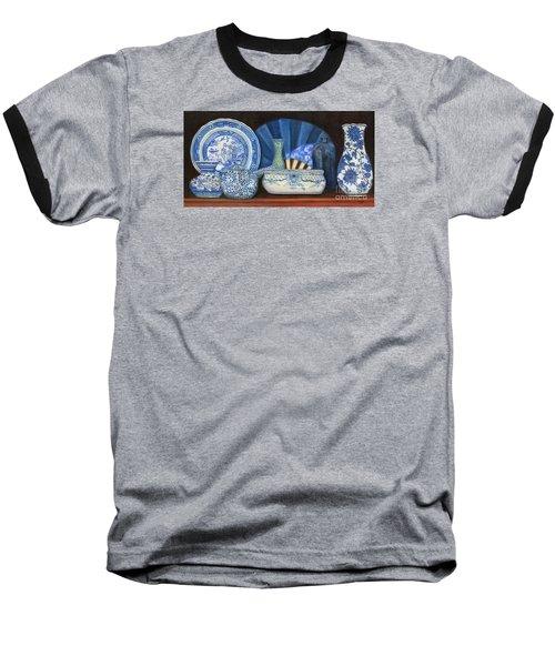 Blue And White Porcelain Ware Baseball T-Shirt