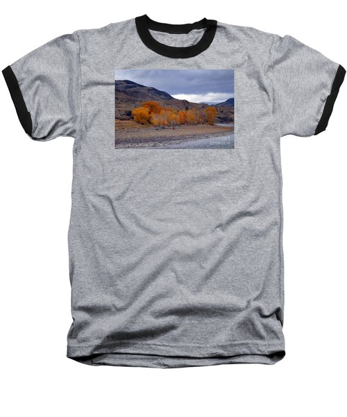 Baseball T-Shirt featuring the photograph Blue And Yellow  by Irina Hays