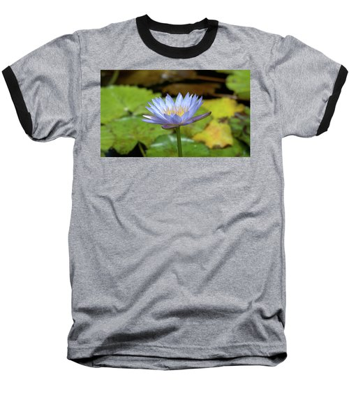 Blue And Yellow Water Lily Baseball T-Shirt