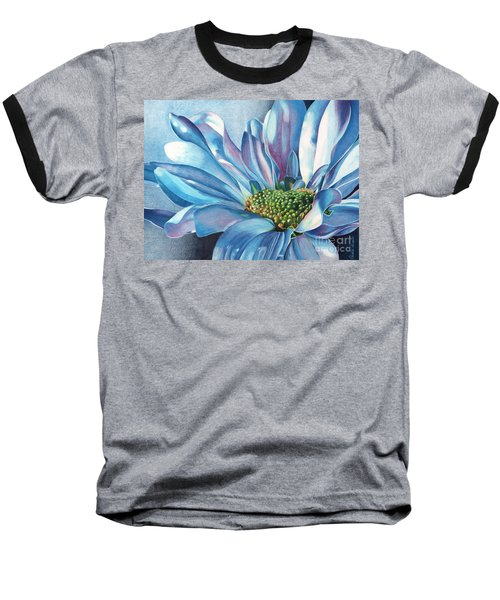 Baseball T-Shirt featuring the painting Blue by Angela Armano