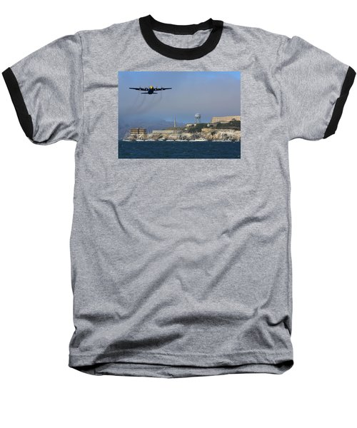 Blue Angels C130 Fat Albert Passes Alcatraz Baseball T-Shirt
