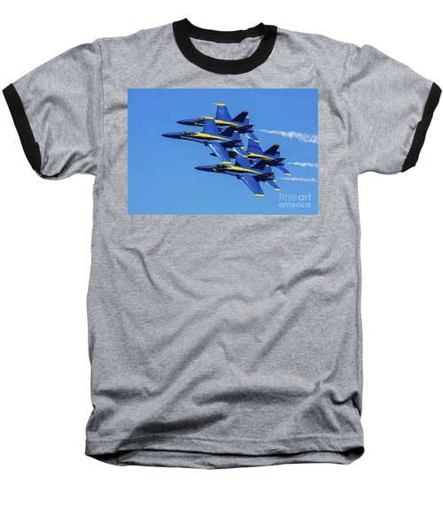 Blue Angels Very Close Formation 1 Baseball T-Shirt
