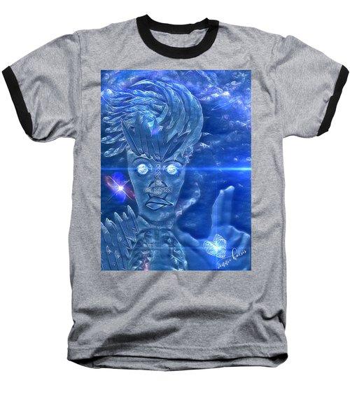 Blue Avian Baseball T-Shirt by Vennie Kocsis