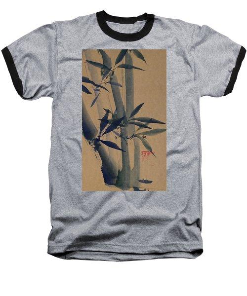 Blue Bamboo Baseball T-Shirt
